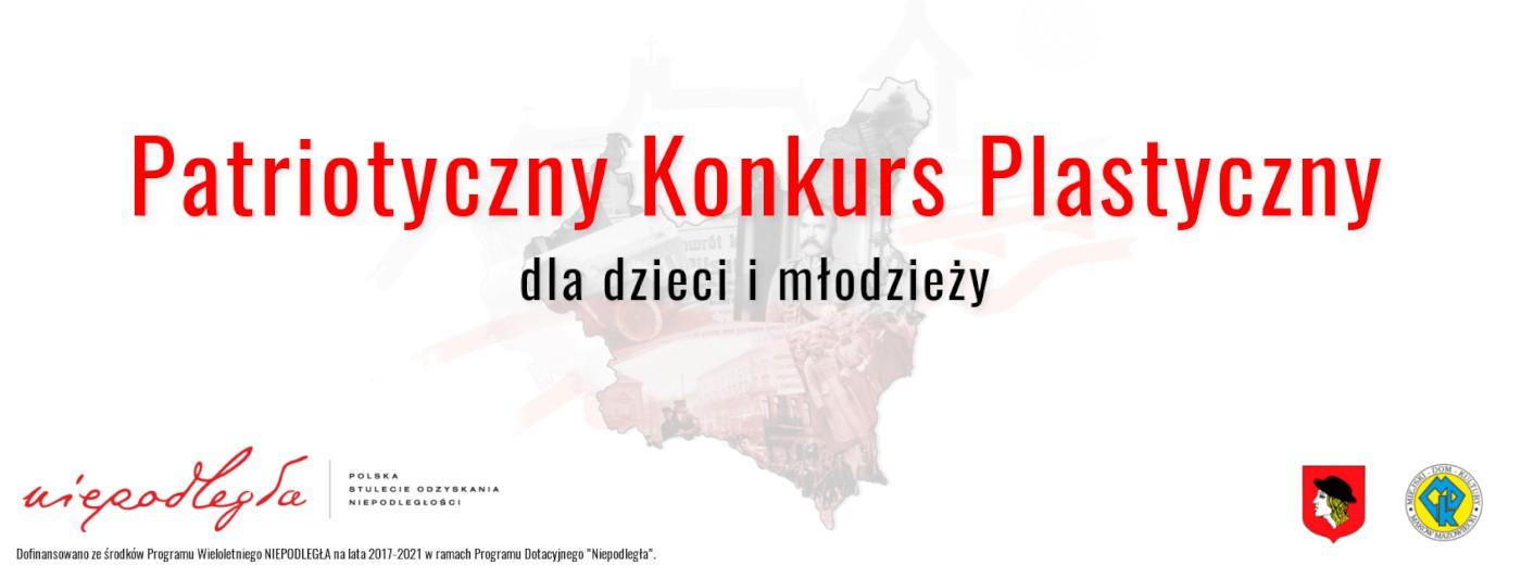 Grafika dotycząca konkursu plastycznego o tematyce  patriotycznej.