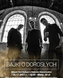 """Plakat koncertu """"Bajki o dorosłych"""""""